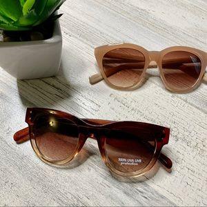 Banana Republic Sunglasses -Brown/Blush (2)